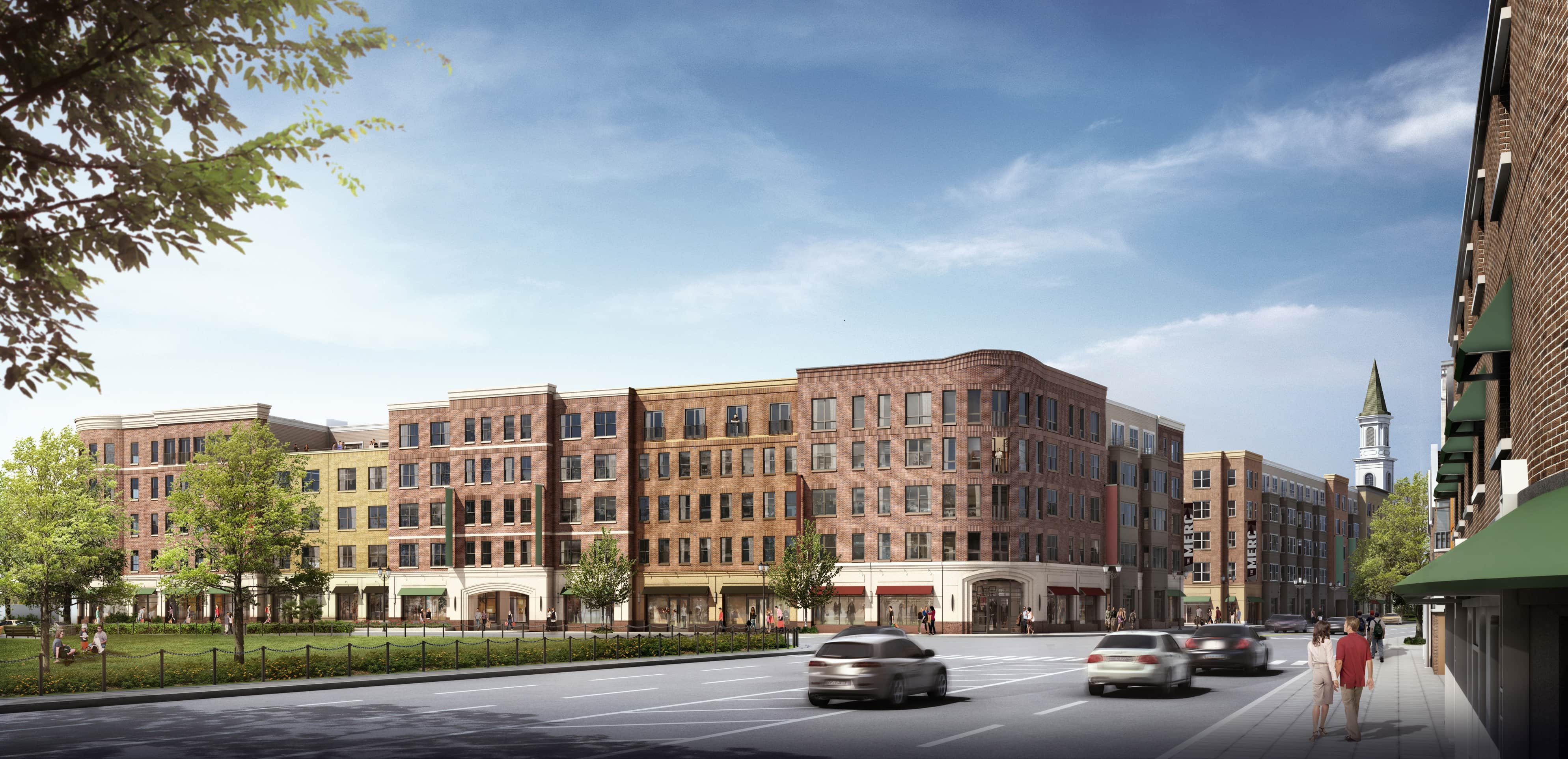 The Merc, Waltham MA mixed use development, Northland Investment Corporation