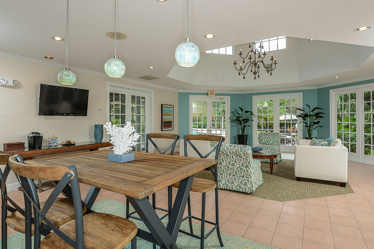 Cypress Shores apartment homes, clubhouse interior